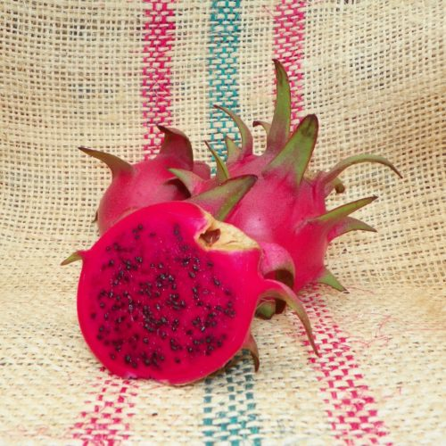 Dragon Fruit variety Hylocereus Costaricensis fruit sliced