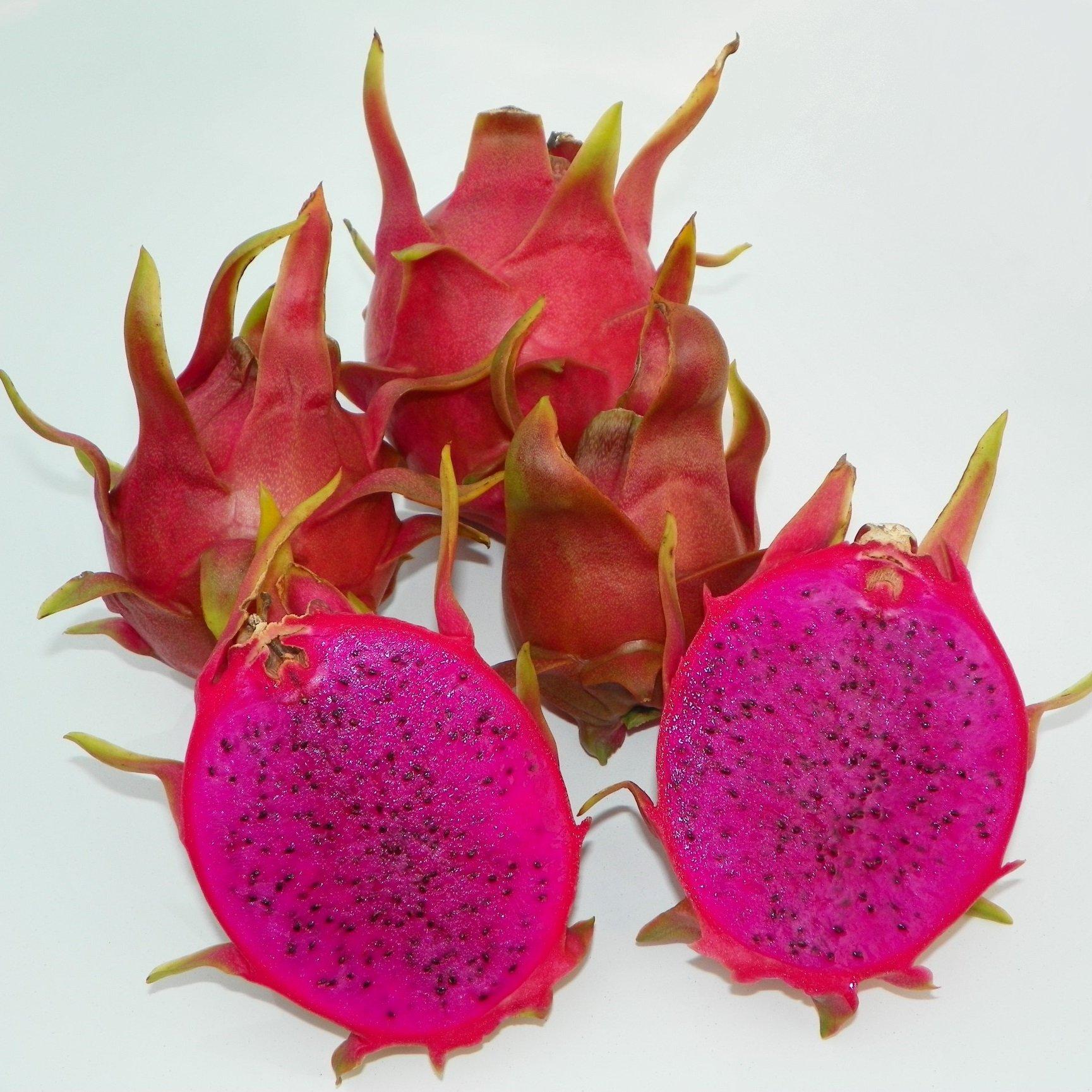 Dragon Fruit variety Dark Star fruit sliced