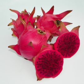 Dragon Fruit variety Lake Atitlan Red fruit sliced