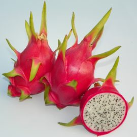 Dragon Fruit variety Mexicana fruit sliced