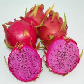 Dragon Fruit variety Physical Graffiti fruit sliced