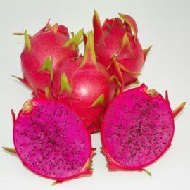 Dragon Fruit variety Purple Haze fruit sliced