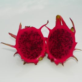 Dragon Fruit variety Hylocereus Polyrhizus fruit sliced