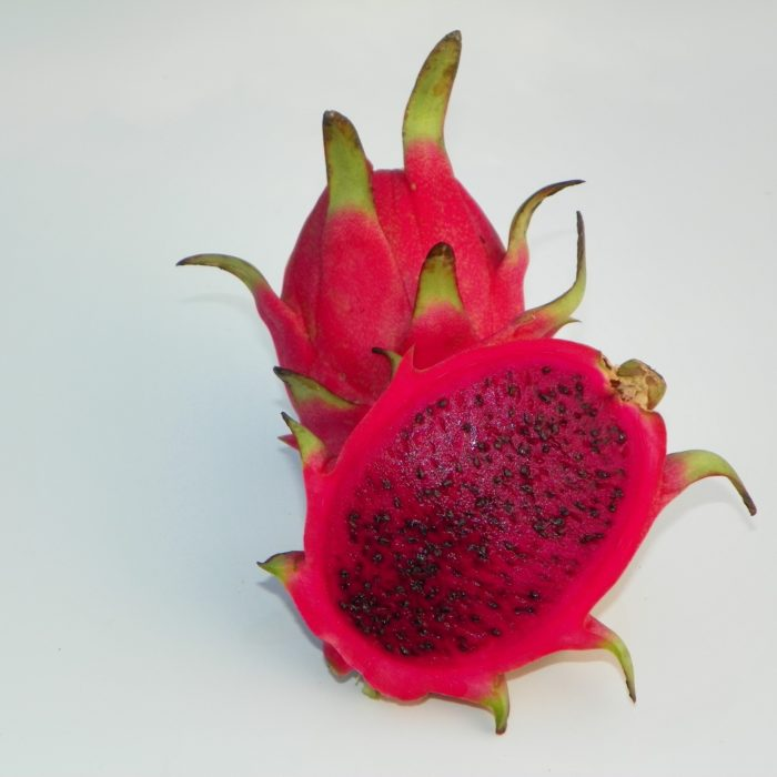 Dragon Fruit variety Rosa fruit sliced