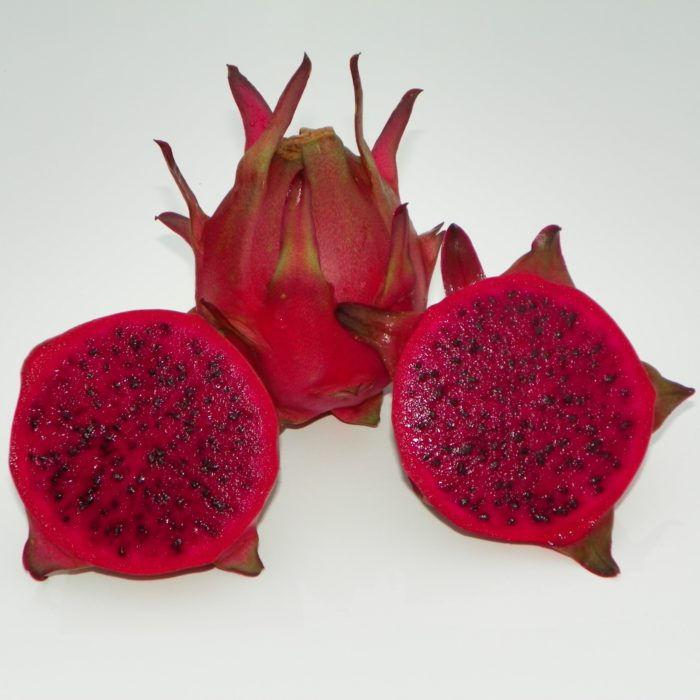 Dragon Fruit variety Zamorano fruit sliced
